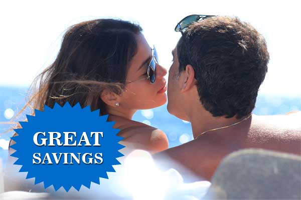 Great savings on your romantic cruise!