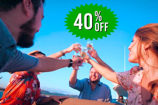 Save 40% when booking your second cruise during your stay.