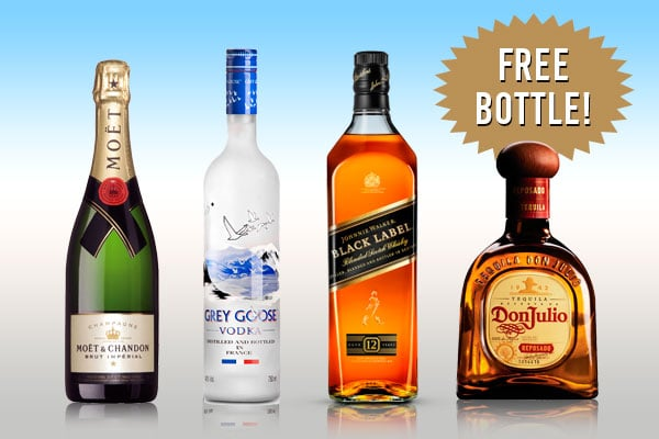 Get your FREE Bottole in your Cruise - Champagne, Vodka, Whisky or Tequila
