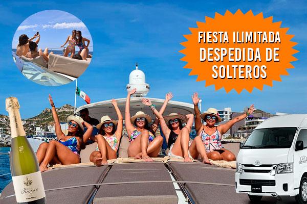 Paseos en Veleros y Yates para Fiesta Ilimitada de Despedida de Solteros en Cabo San Lucas