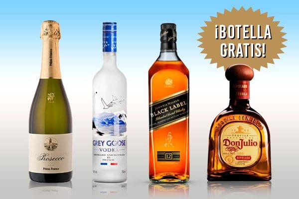 Obtén botella gratis en tu crucero - Champán, Vodka, Whisky o Tequila